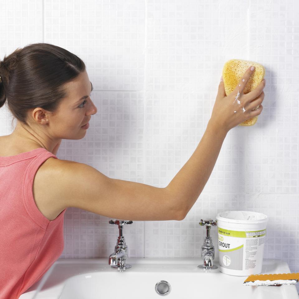 limpiar el baño