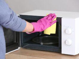 Cómo limpiar el microondas por dentro